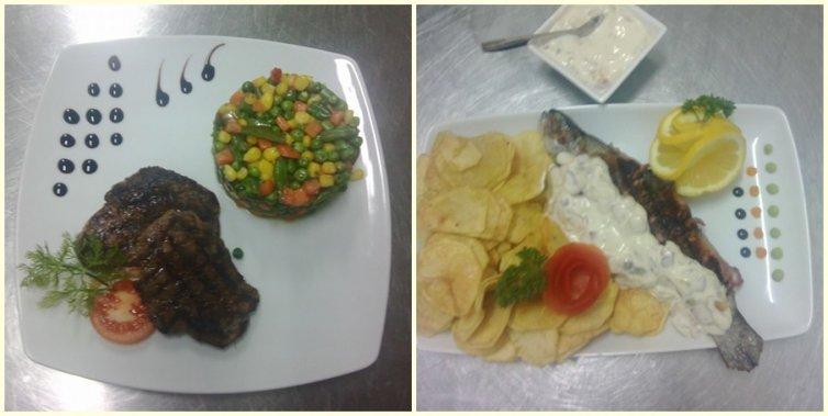 Fisch und Kartoffelchips